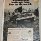 1972 American Motors Jeep Wagoneer Kitchen Sink ad
