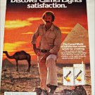 1980 Camel Lights Cigarette Pyramid ad