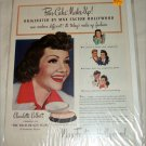 Max Factor Pan-Cake Makeup ad featuring Claudette Colbert