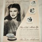 1943 Max Factor Pan-Cake Makeup ad featuring Ginger Rogers