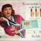 Max Factor Lipstick ad featuring Lana Turner