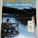 1985 Camel Lights Share An Adventure Cigarette ad