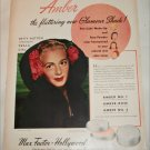 1948 Max Factor Amber Pan Cake Makeup ad featuring Betty Hutton