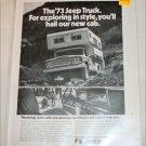1973 American Motors Jeep  pickup truck ad b&w #1