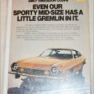 1974 American Motors Matador ad gold