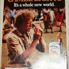 1985 Camel Lights It&#39;s a Whole New World Cigarette ad #2