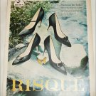 1959 Brown Risque Shoes ad