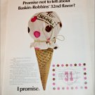 1970 Baskin Robbins 32nd Flavor ad