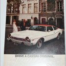 1974 American Motors Cassini Matador 2 dr sedan car ad