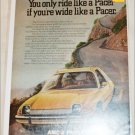 1975 American Motors Pacer car ad yellow