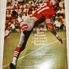 Sport's Illustrated San Francisco 49r's ad