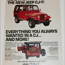 1976 American Motors Jeep CJ-7 ad