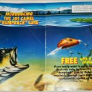 1991 Camel Lights Joe Camel Humpback Lure Cigarette ad