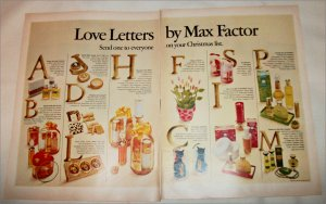 1968 Max Factor Love Letters Christmas ad