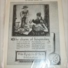 1922 William Rogers & Son Silverplate ad #1