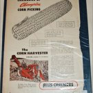 1950 Allis-Chalmers Corn Harvester ad