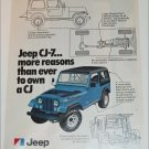 1977 American Motors Jeep CJ-7 ad