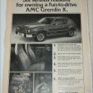 1978 American Motors Gremlin X car ad