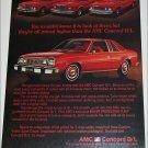 1978 American Motors Concorde D/Lcar ad
