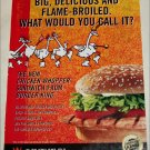 2002 Burger King Chicken Whopper ad