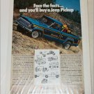 1978 American Motors Jeep Honcho Pickup truck ad