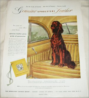 1952 Upholstery Leather Group ad