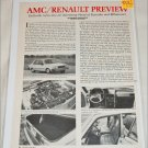 1981 American Motors/Renault article