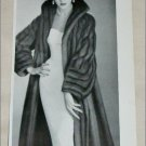 1953 Bradleys Wild Mink Coat ad from the UK