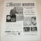 1948 York Refrigeration Company ad