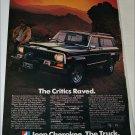 1982 American Motors Jeep Cherokee ad