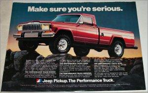 1982 American Motors Jeep Pickup truck ad