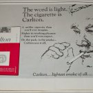 1964 Carlton Cigarette The Word Is Light ad