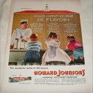 1956 Howard Johnsons Ice Cream ad