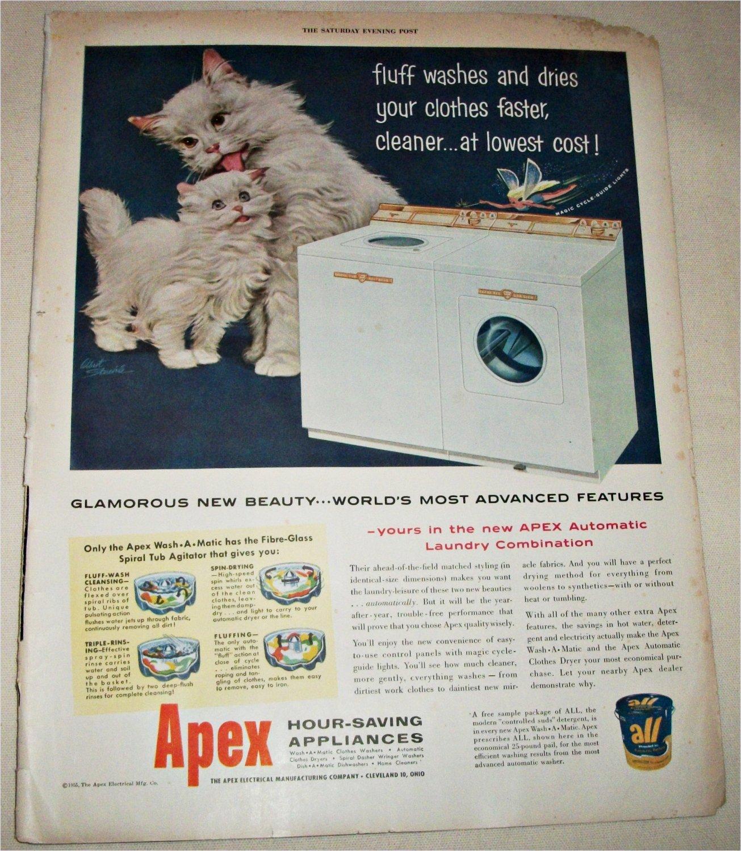 1955 Apex Washer Dryer ad