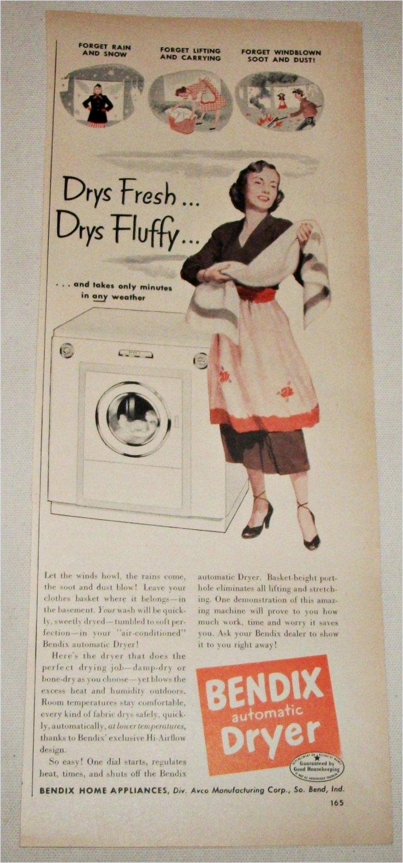 1951 Bendix Automatic Dryer ad