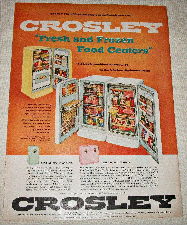 1956 Crosley Shelvador Twins Refrigerators ad