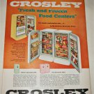1956 Crosley Shelvador Twins Refrigerators ad