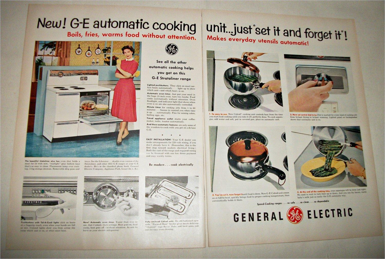 1955 GE Stratoliner Electric Range ad