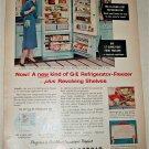 1955 GE Refrigerator Freezer ad