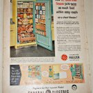 1956 GE Bookshelf Freezer ad