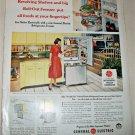 1958 GE Refrigerator Freezer ad