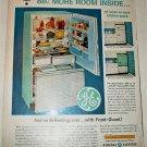 1962 GE Spacemaker Refrigerator Freezer ad