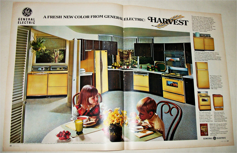 1968 GE Harvest Colored Appliances ad