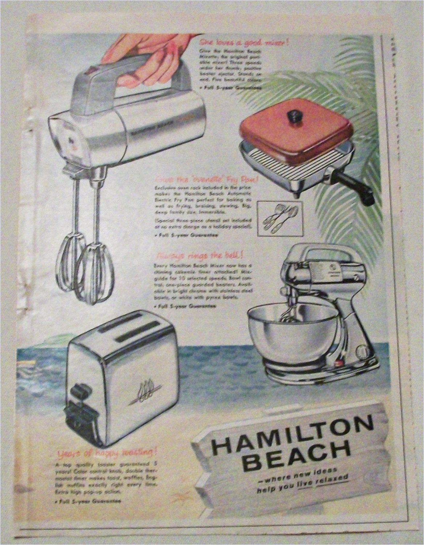 1958 Hamilton Beach Appliances ad