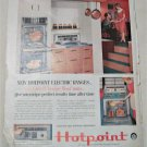 1959 Hotpoint Electric Ranges ad