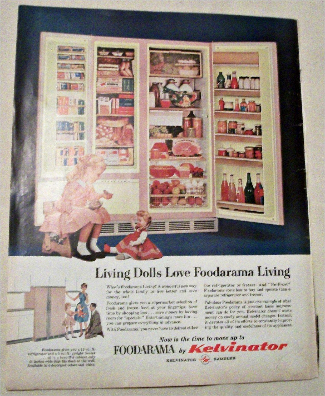 1962 Kelvinator Foodarama Refrigerator ad