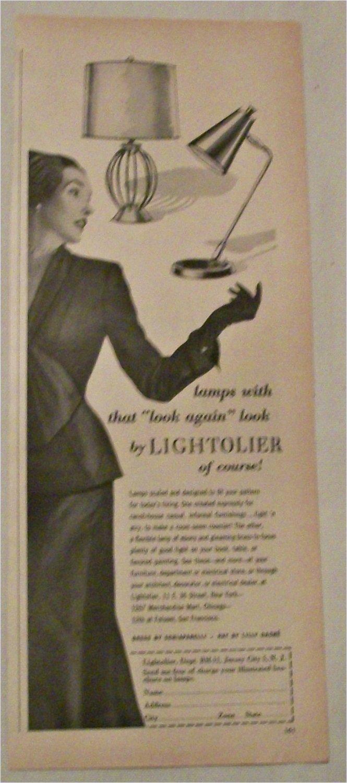 1951 Lightolier Lamps ad