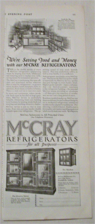 1924 McCray Refrigerators ad