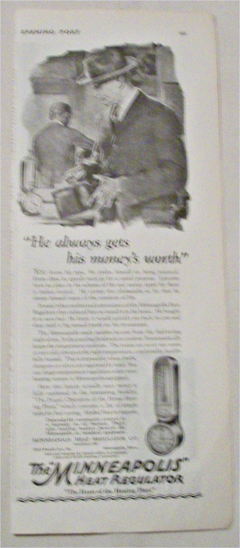 1924 Minneapolis Heat Regulator ad