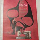 1958 Necchi Supernova Ultra Sewing Machine ad